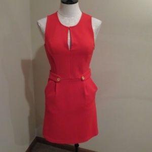 Anthropologie Tabitha Lorel Dress red stretch gold